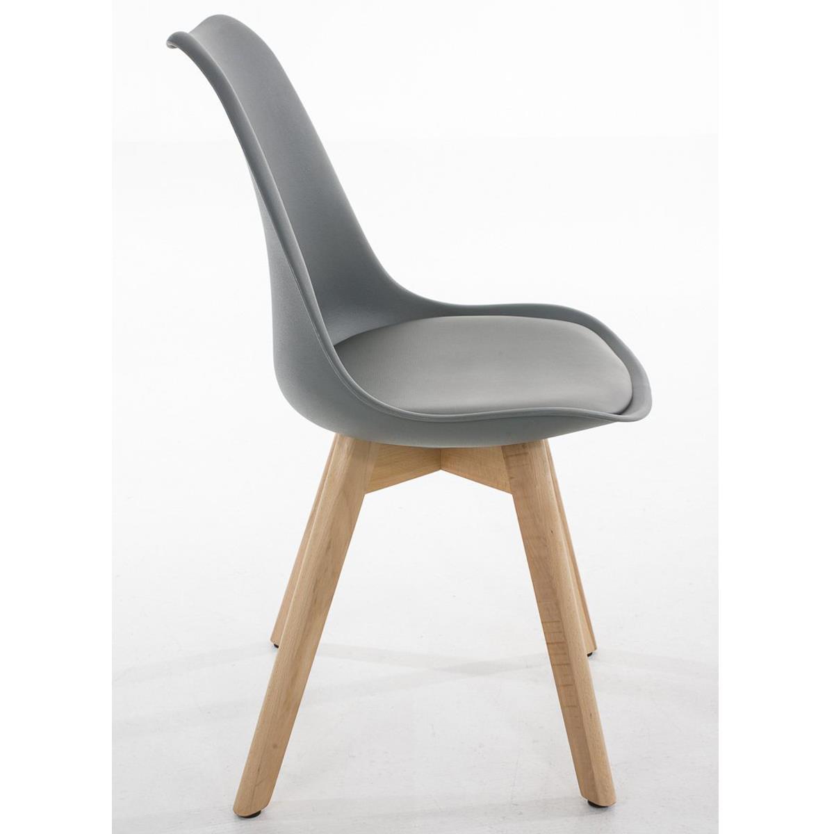 Conjunto de 6 sillas de comedor loren color gris y patas - Sillas comedor piel ...