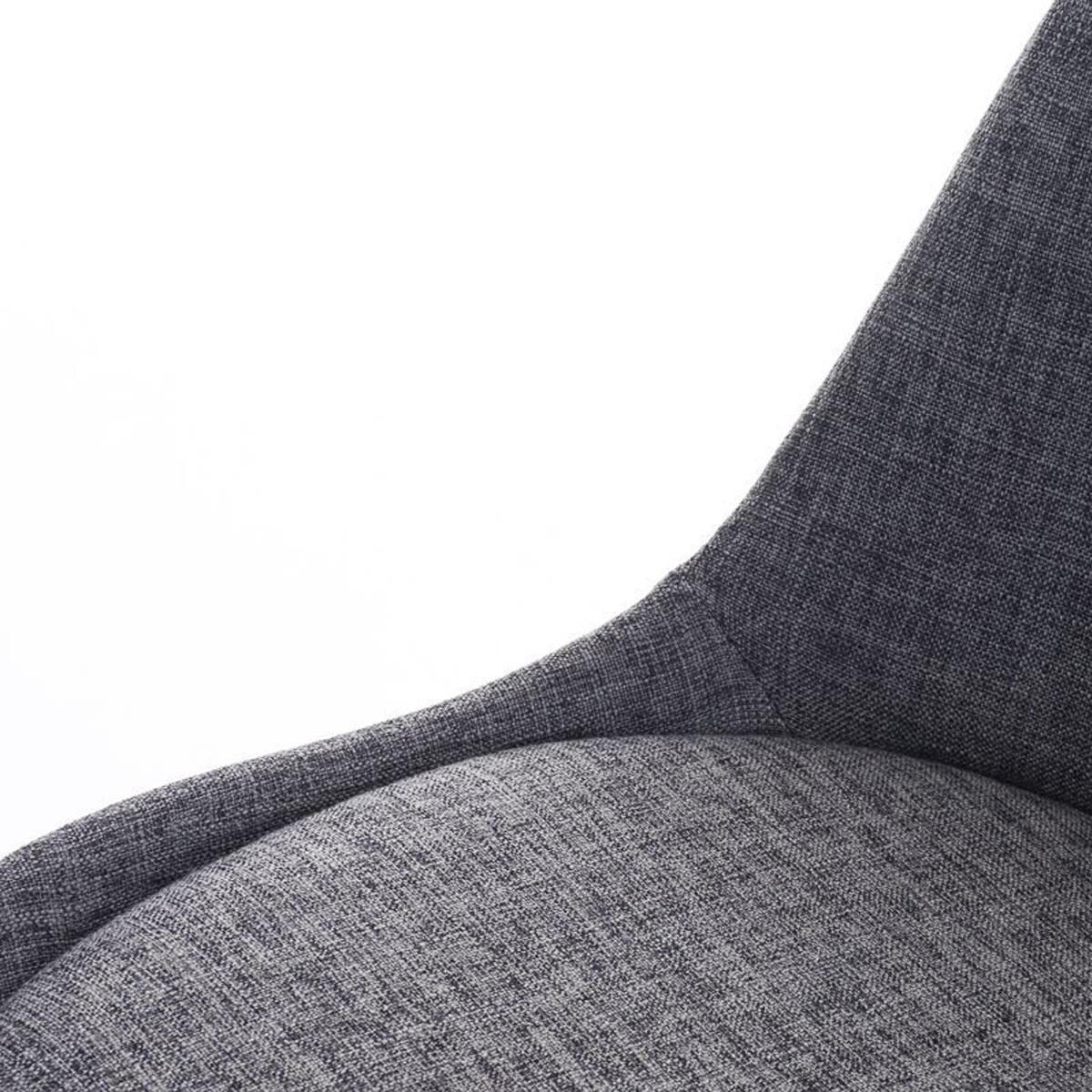 Conjunto de 6 sillas de comedor loren tela color gris for Sillas de comedor color gris
