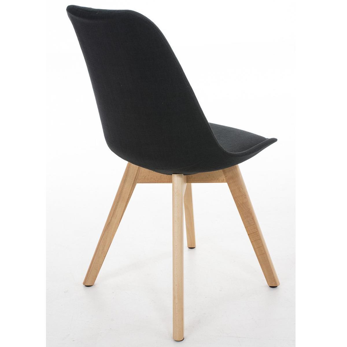 Conjunto de 6 sillas de comedor loren tela color negro y - Tela para sillas de comedor ...