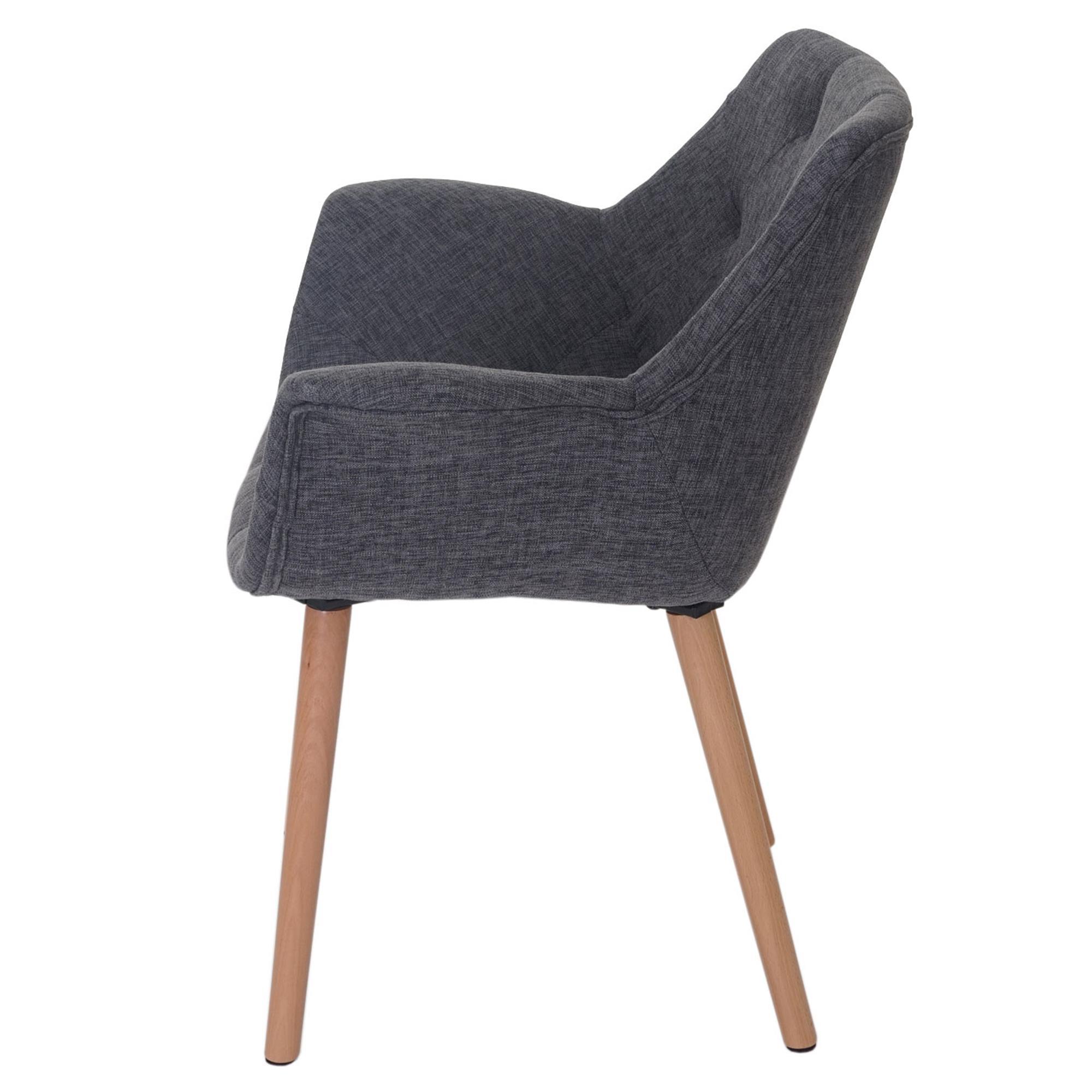 Lote 4 sillas de comedor alber tela estilo retro en gris for Sillas de tela comedor