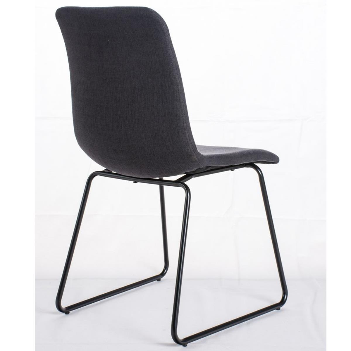 Conjunto de 4 sillas de comedor marina color gris oscuro for Sillas comedor patas metalicas