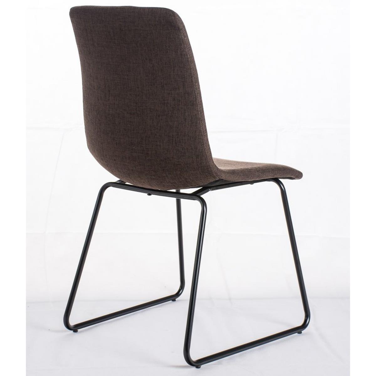 Conjunto de 6 sillas de comedor marina color marr n y for Sillas comedor patas metalicas