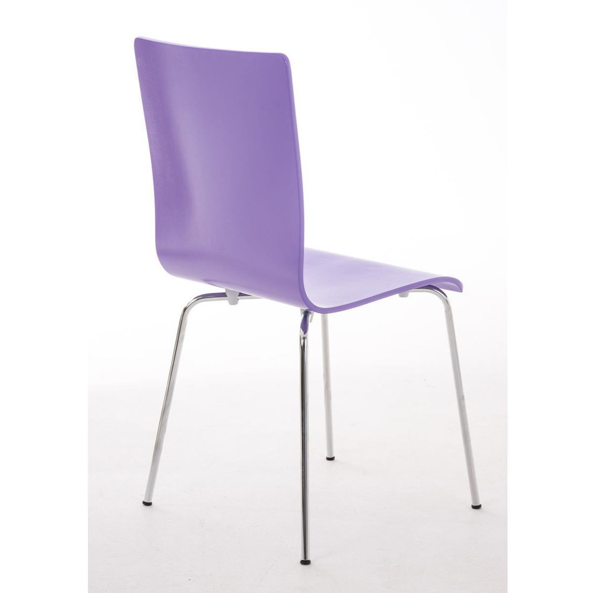 Conjunto de 6 sillas de cocina o comedor lodi en color for Sillas metalicas para comedor