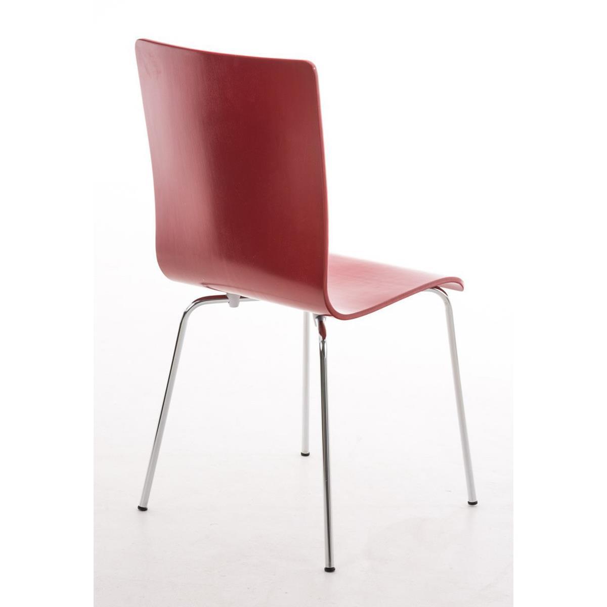 Silla de cocina o comedor lodi en color rojo silla de for Sillas metalicas para cocina