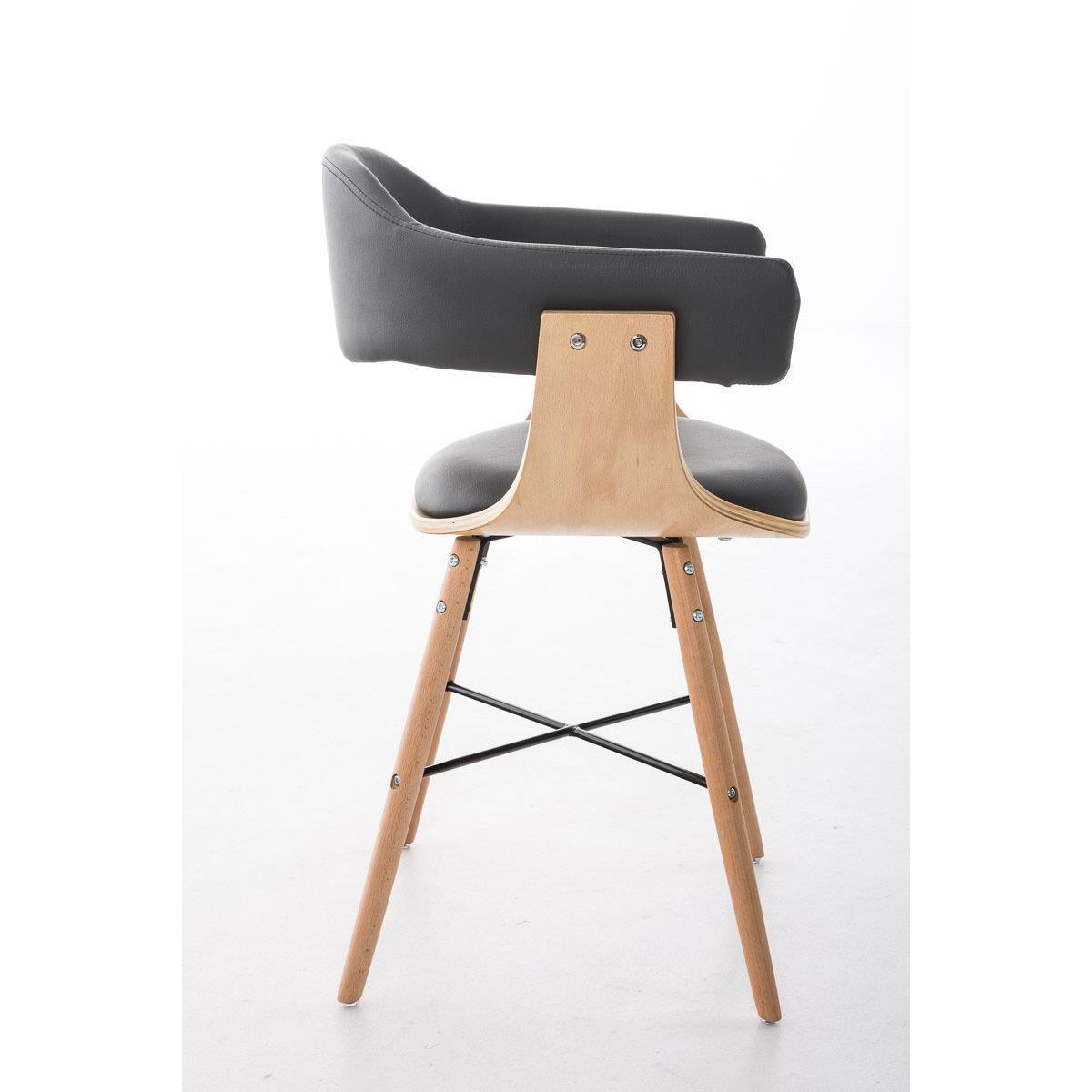 Conjunto de 4 sillas de comedor albatros piel en color for Sillas de comedor tapizadas en gris