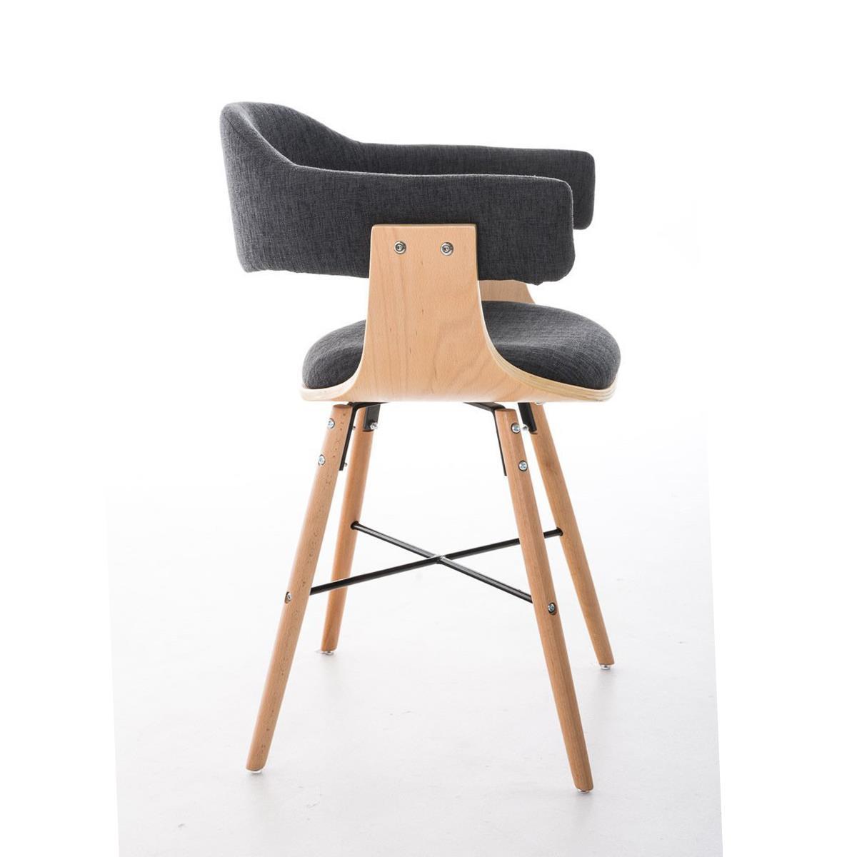 Conjunto de 4 sillas de comedor albatros en tela color for Sillas de comedor tapizadas en gris