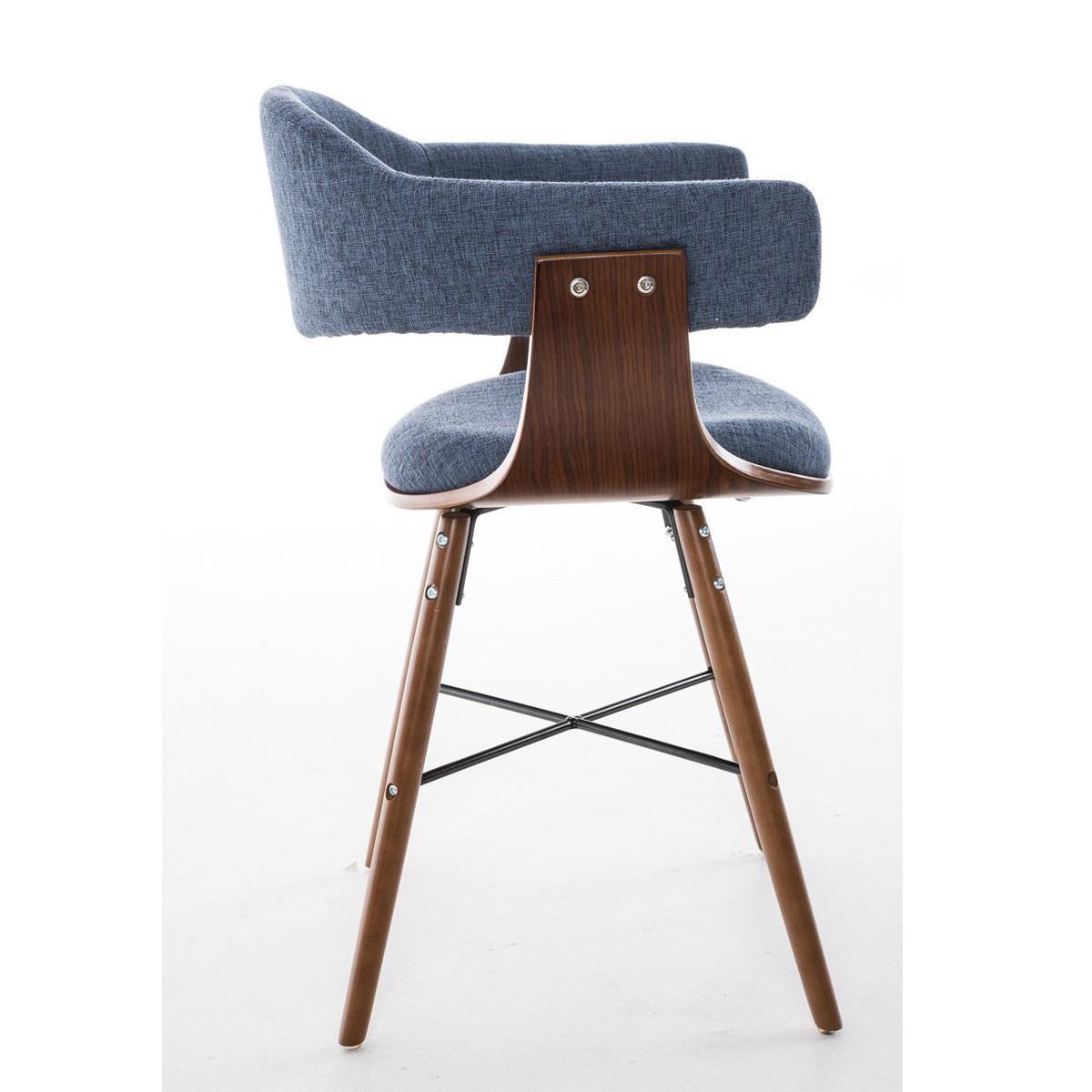 Silla de comedor albatros en tela color azul y estructura - Tela para sillas de comedor ...