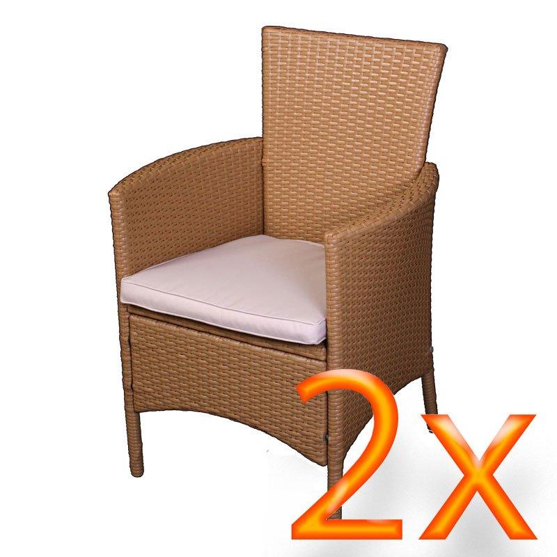 Conjunto muebles de jard n rom mesa sillones taburete for Sillones de ratan para jardin