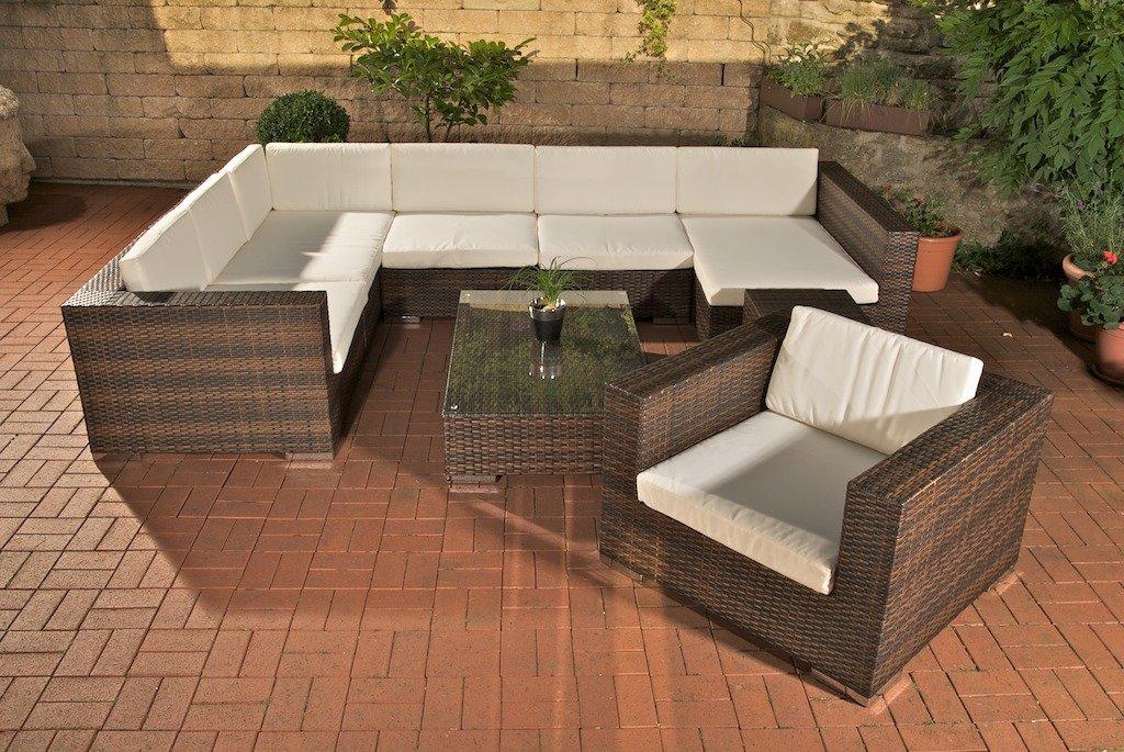 Conjunto de jard n sof barcelona poly rat n gris conjunto de muebles de jard n gran sof - Muebles de jardin en barcelona ...