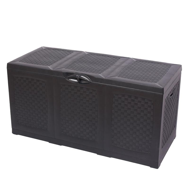 Caja para almacenaje jard n color antracita 120x50x60cm for Almacenaje de jardin