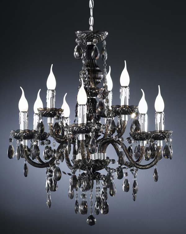 L mpara de ara a con 9 bombillas vidrio transparente l mpara de techo tipo ara a para 9 - Lamparas de arana de cristal ...