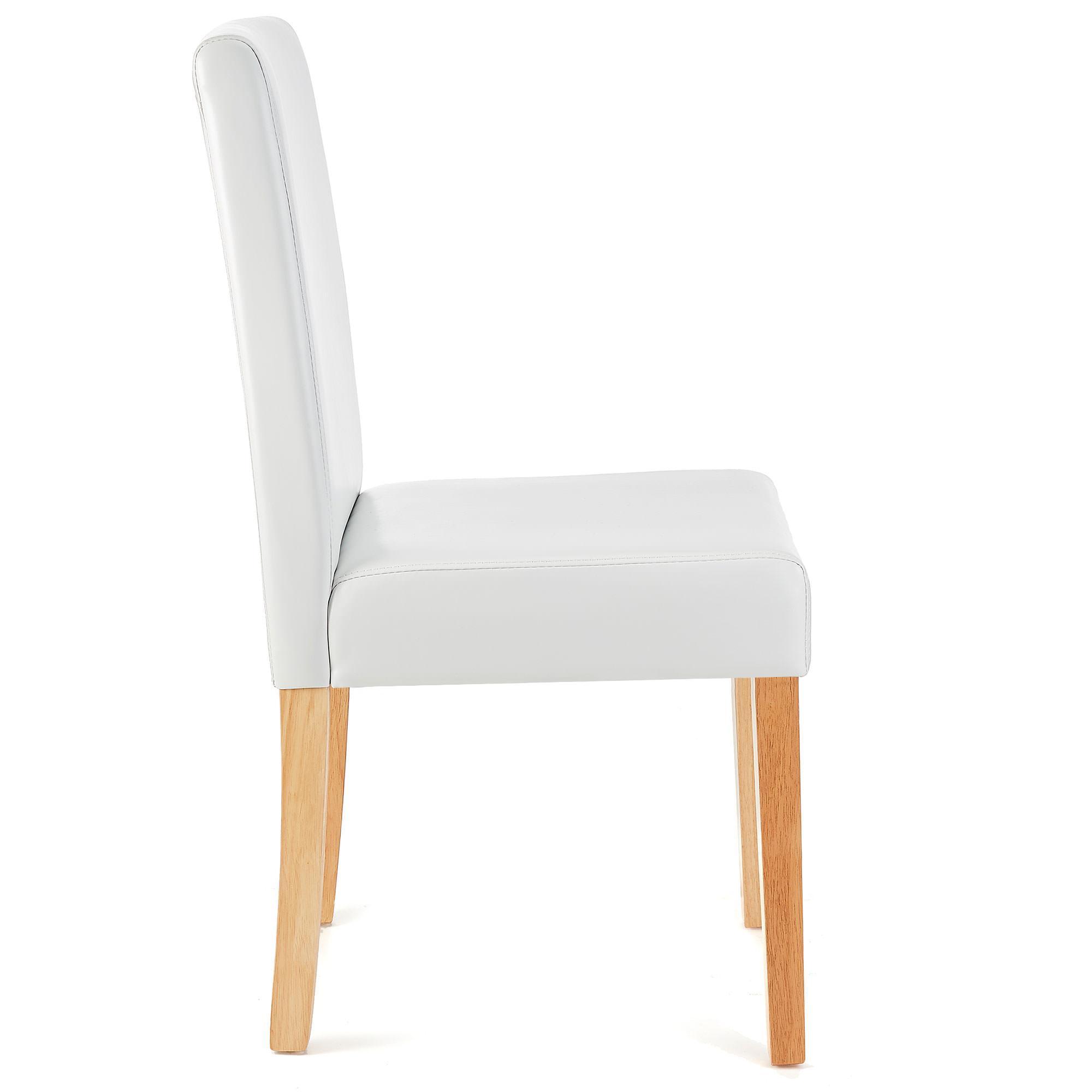 Lote 4 sillas de comedor litau piel real precioso dise o for Sillas de comedor tapizadas en piel