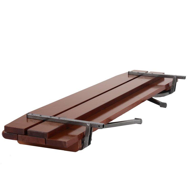Set 2 bancos de madera para jard n o exterior de 180 cm - Bancos madera exterior ...