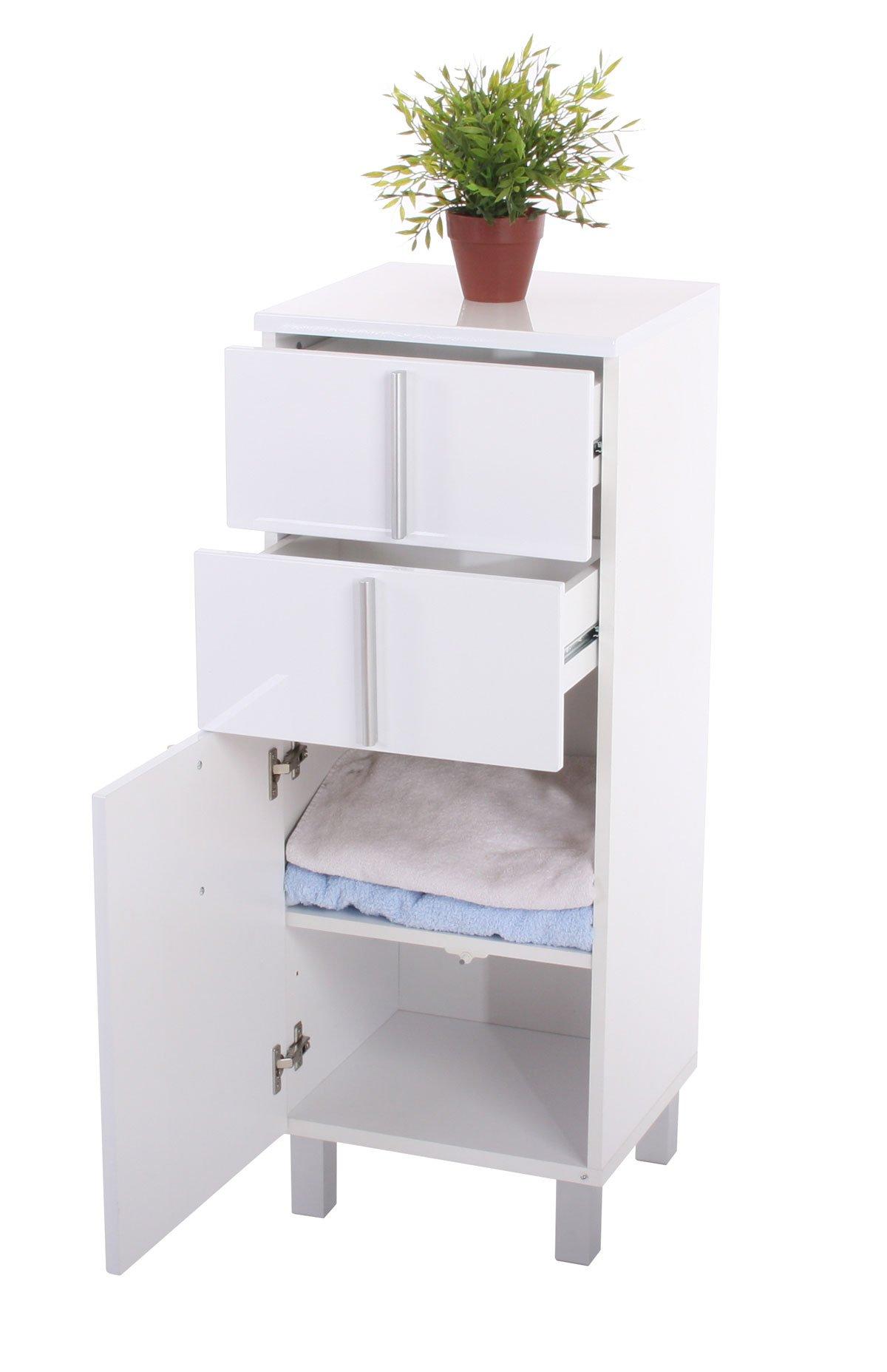 Conjunto de 3 muebles para ba o nordik 2 armarios altos for Muebles altos de bano