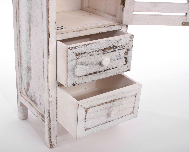 Mueble alto de 90x30x25cm acabado antiguo estilo vintage for Muebles de estilo vintage