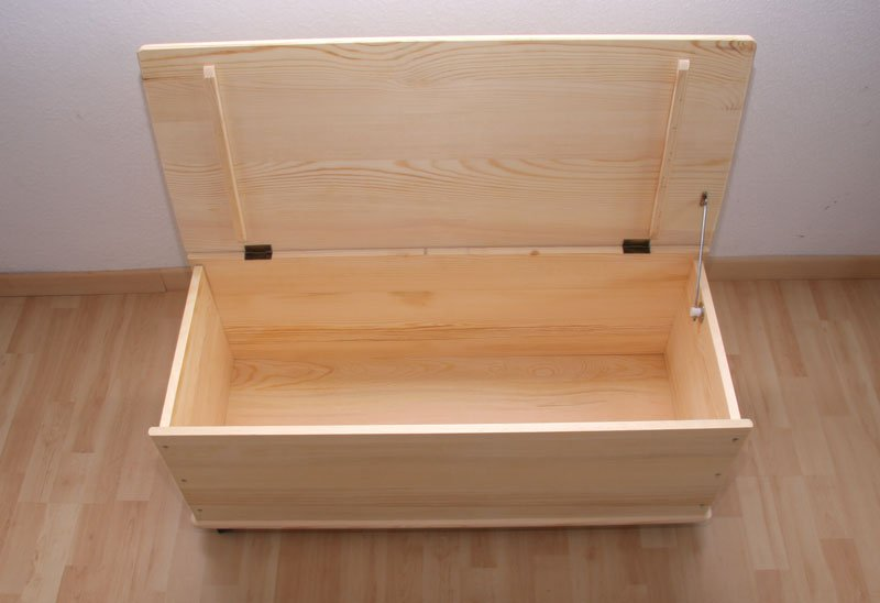Ba l para almacenaje en madera natural 91 cm cesta o - Baules para ropa ...