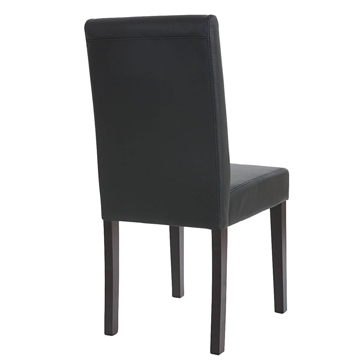 Lote 4 sillas de comedor litau piel mate negra lote 4 for Sillas de piel para comedor