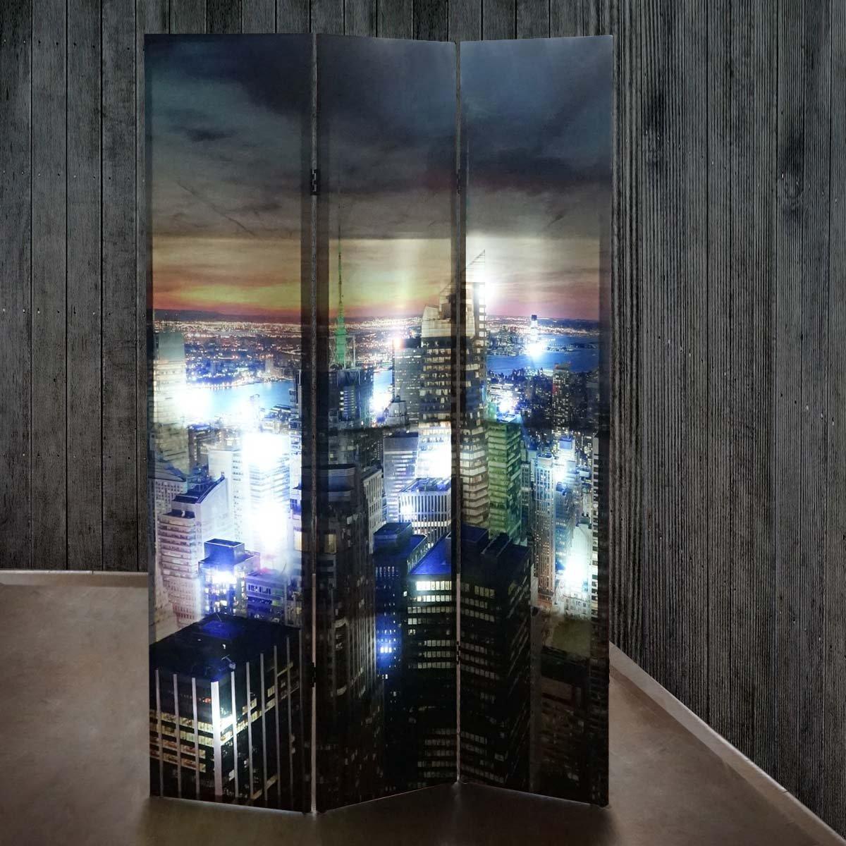 Biombo decorativo new york iluminaci n por 24 led - Iluminacion por leds ...