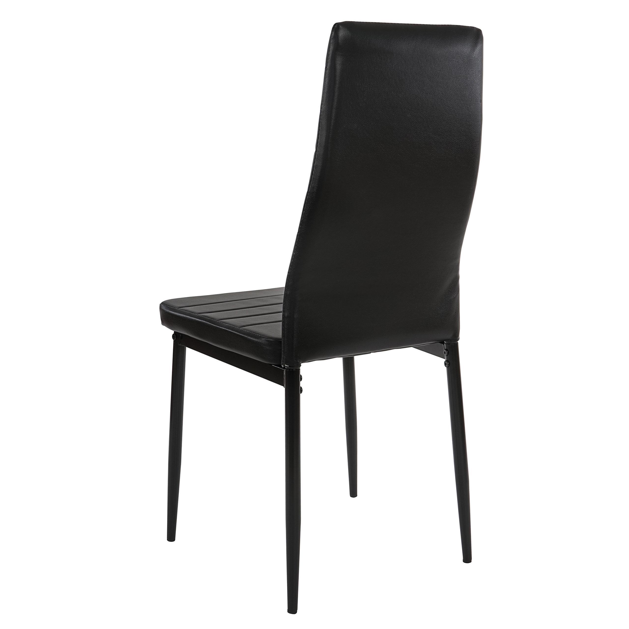 Lote 6 sillas de comedor o cocina calisa gran dise o con for Sillas de comedor tapizadas en piel
