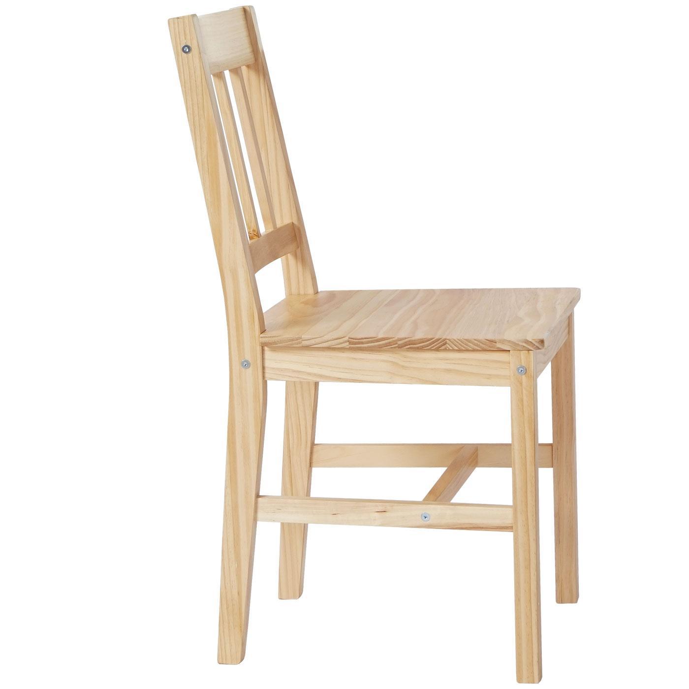 Lote 6 sillas de cocina o comedor nerja en marr n haya - Sillas de cocina madera ...