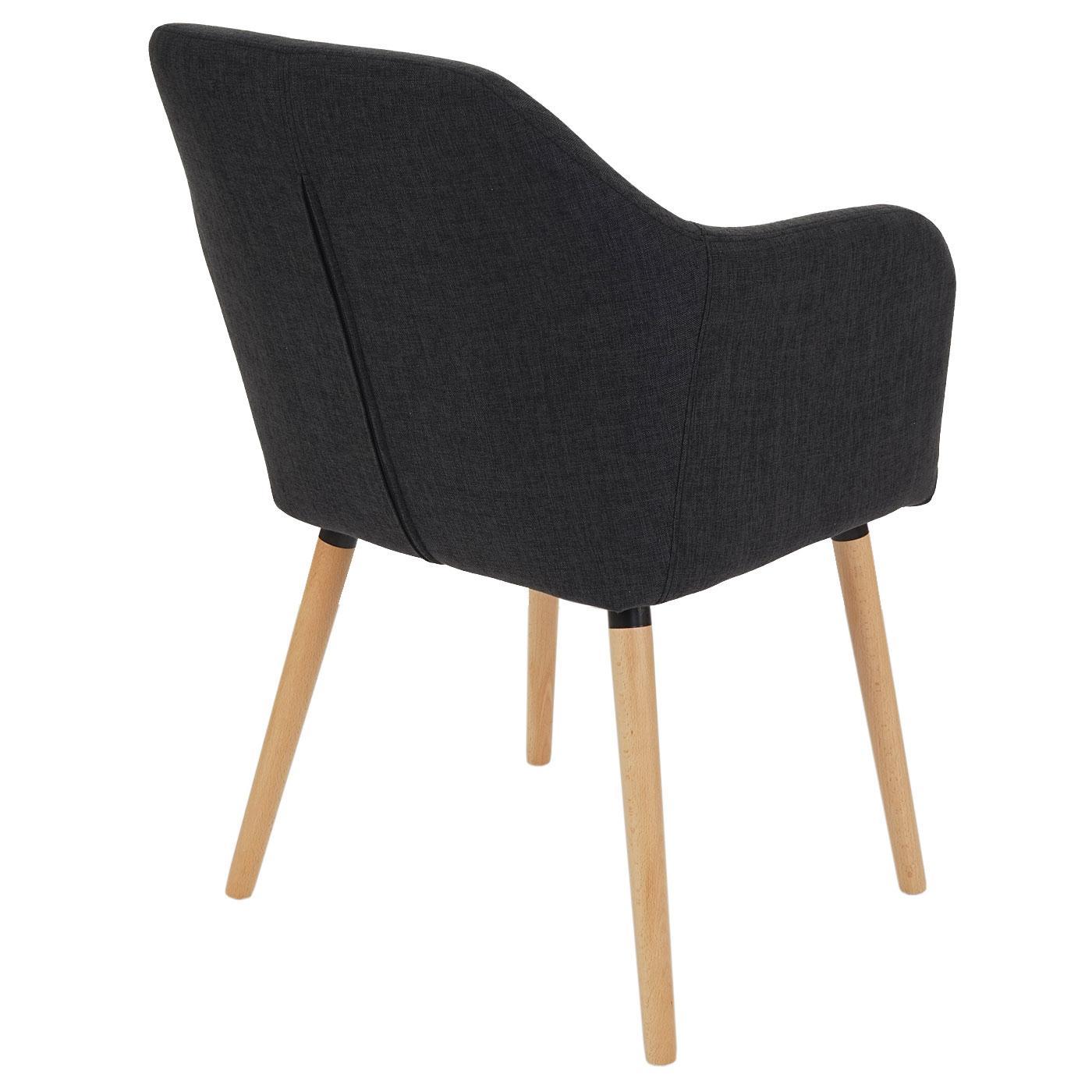 Lote de 6 sillas de comedor tulio tela tapizadas en for Sillas para comedor tapizadas en tela