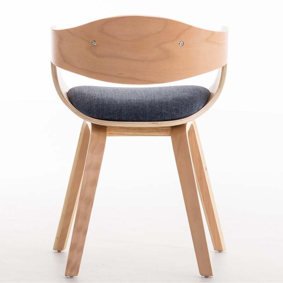 Conjunto de 6 sillas de comedor bolonia tapizadas en tela for Comedor de madera 6 sillas