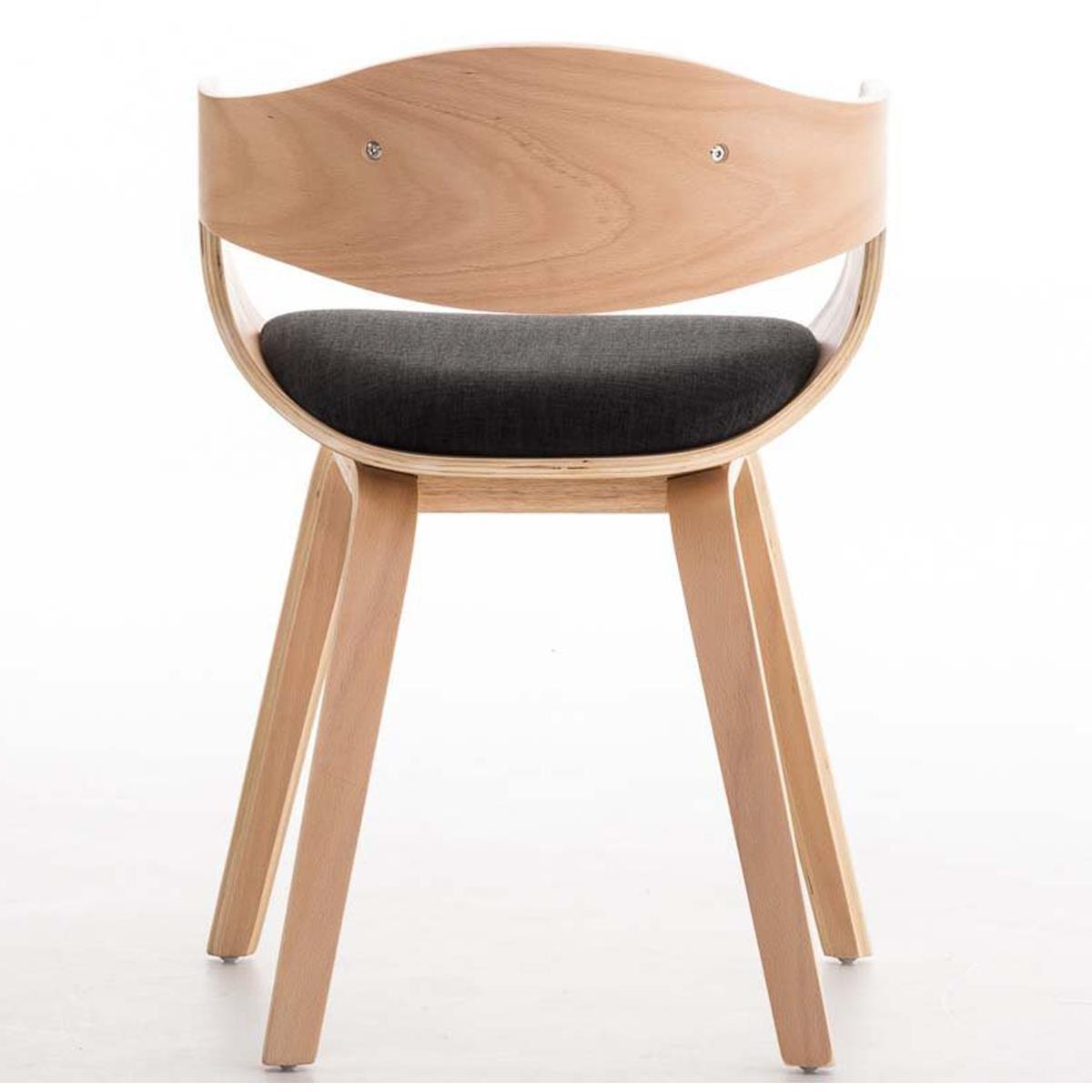Conjunto de 4 sillas de comedor bolonia tapizadas en tela for Sillas de comedor color gris