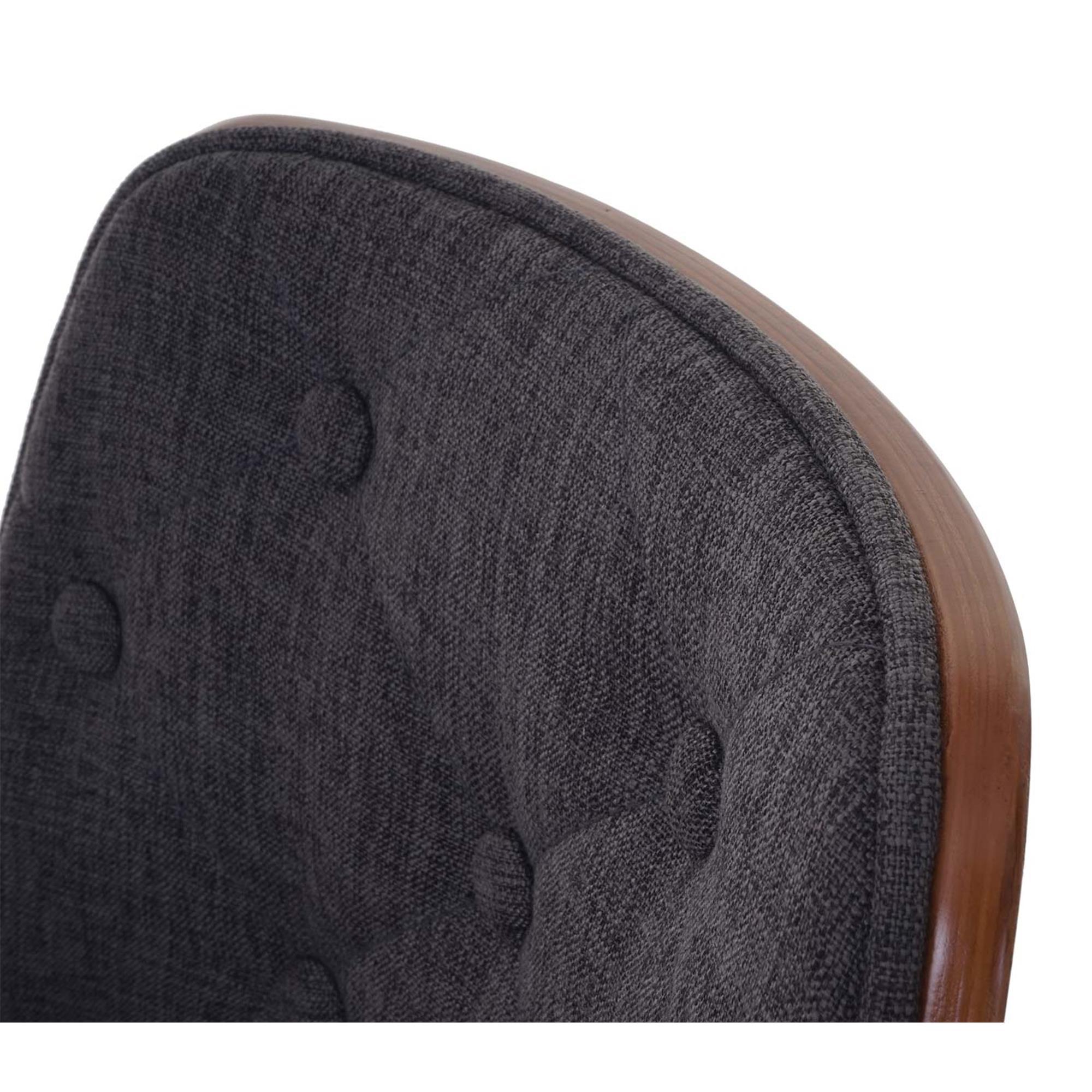 Lote 4 sillas de comedor baley tela en color gris for Sillas de comedor color gris
