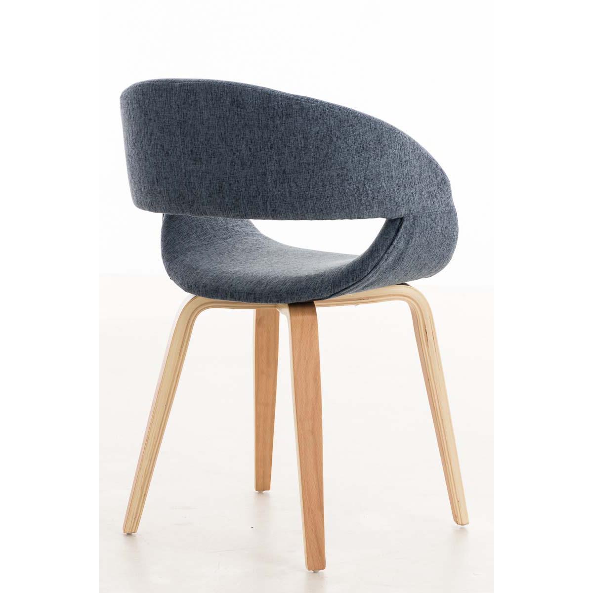 Conjunto de 6 sillas de comedor gregory tapizadas en tela for Sillas para comedor tapizadas en tela
