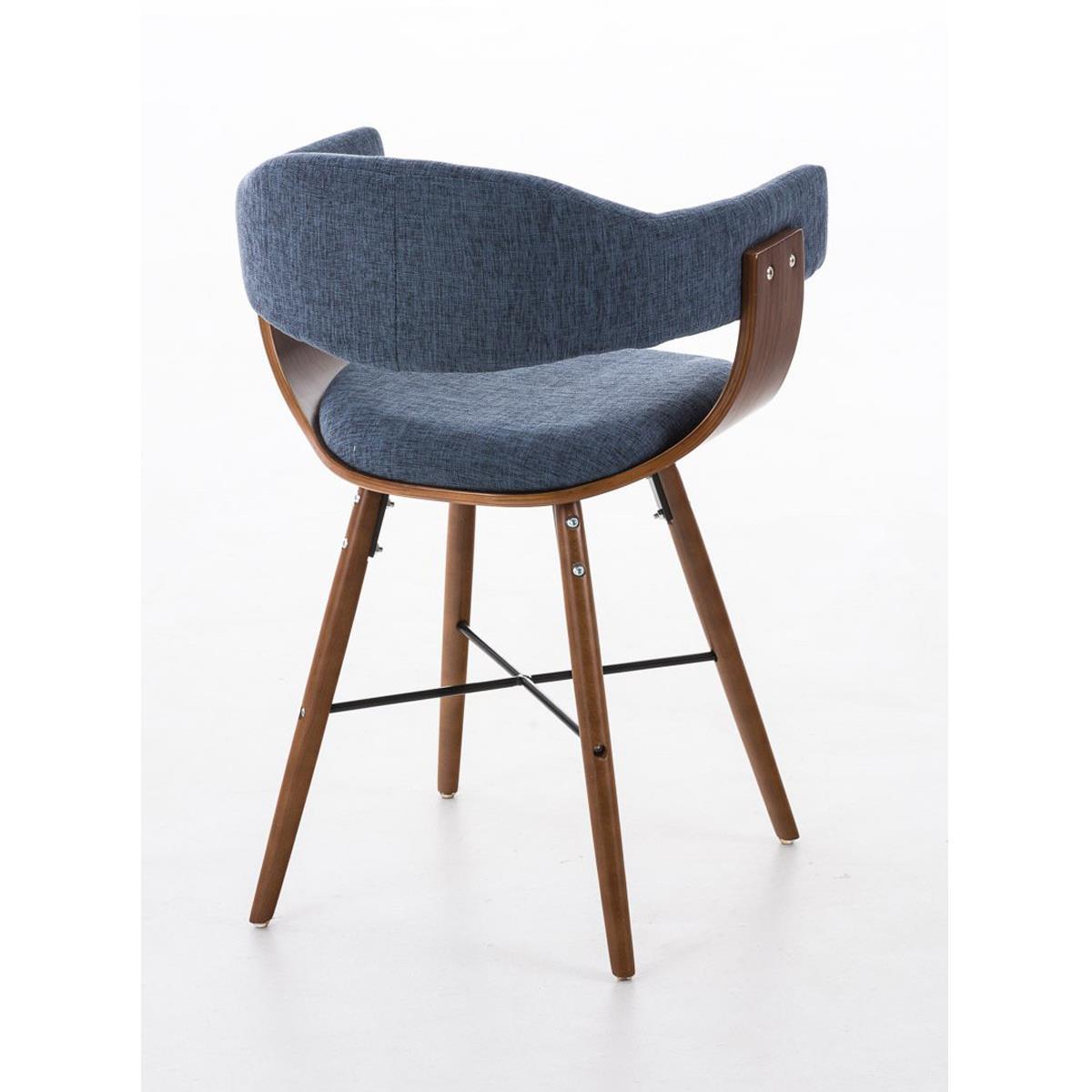 Conjunto de 4 sillas de comedor albatros en tela color for Sillas para comedor tapizadas en tela