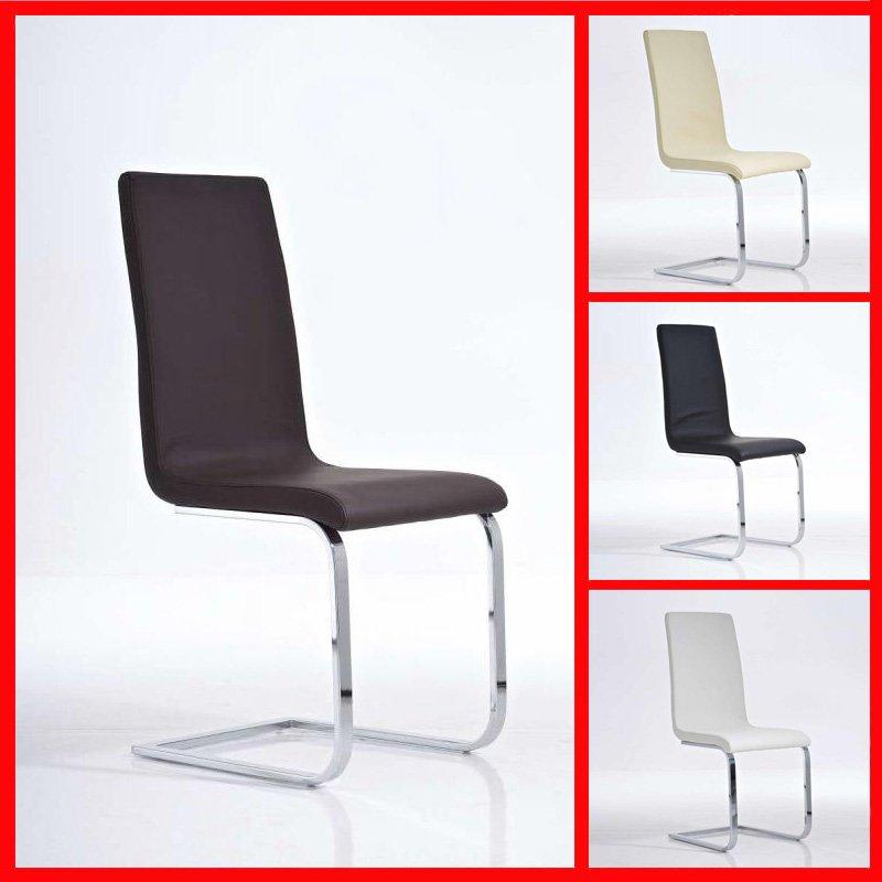 Noi valido silla de comedor o confidente c12 muy for Sillas en piel para comedor