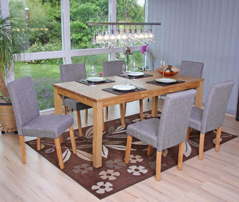 lote sillas de comedor litau tela precioso diseo tela gris y patas claras