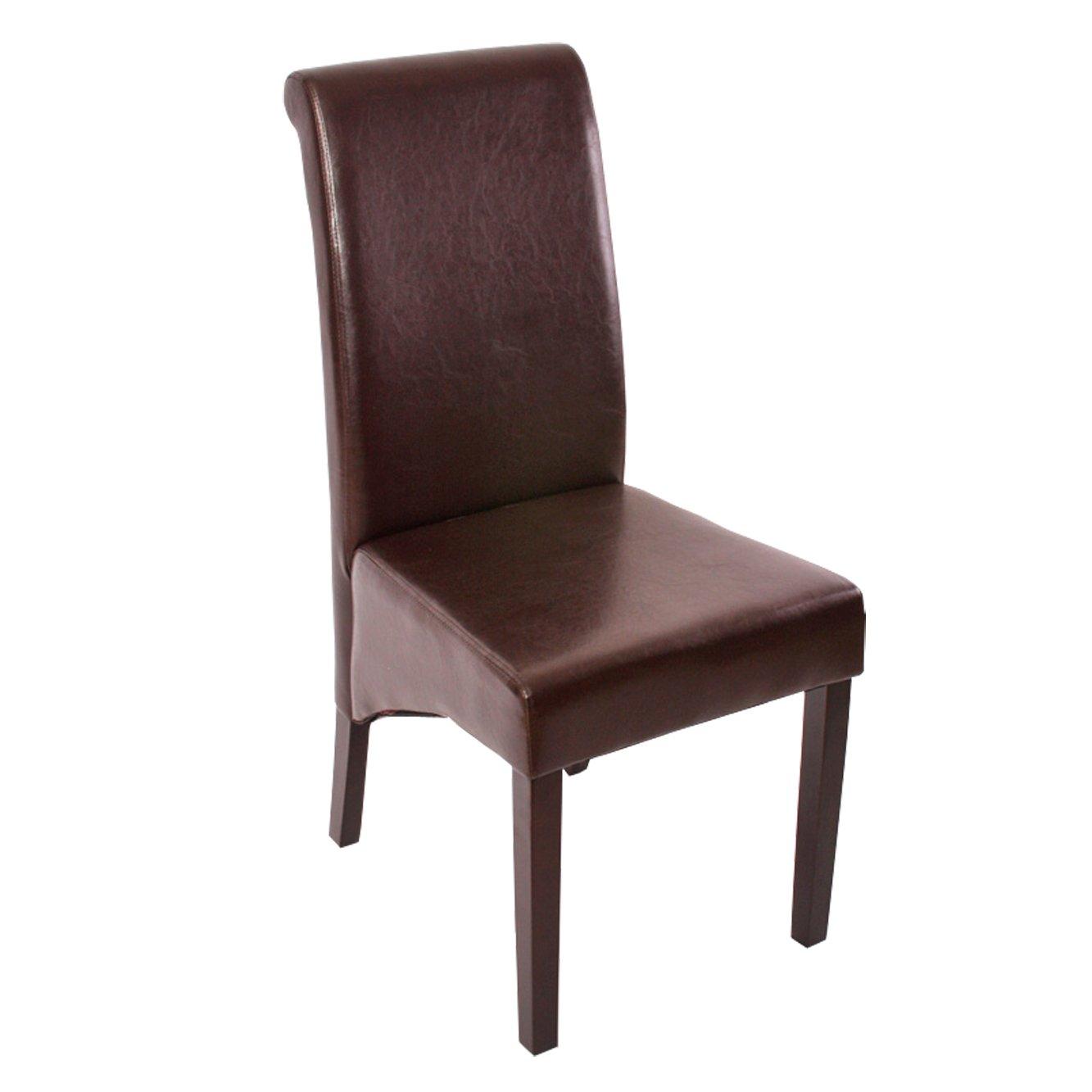 Conjunto de 6 sillas de comedor m37 en cuero color marr n for Sillas de comedor de cuero