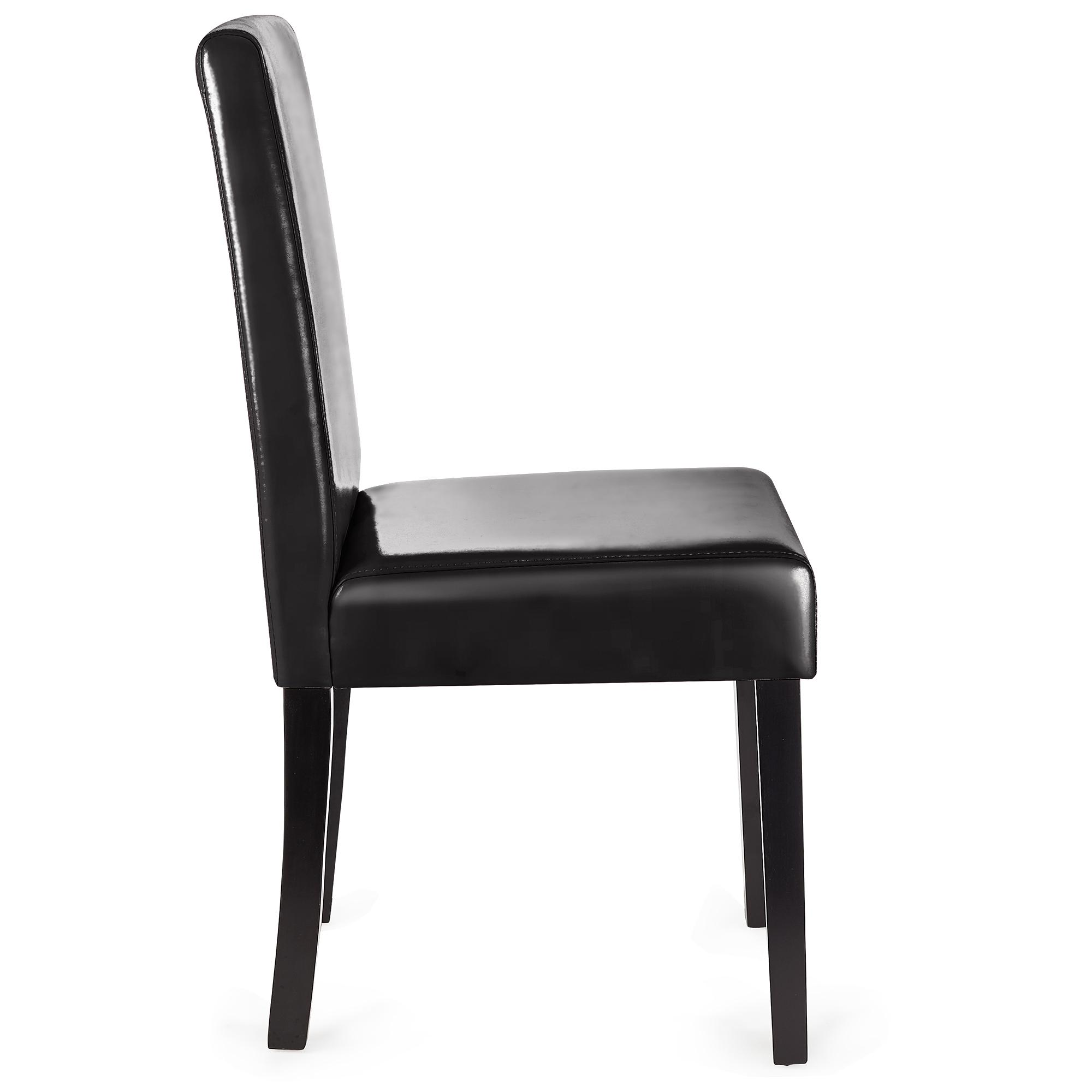Lote 6 sillas comedor litau piel natural negra y patas - Sillas comedor piel ...