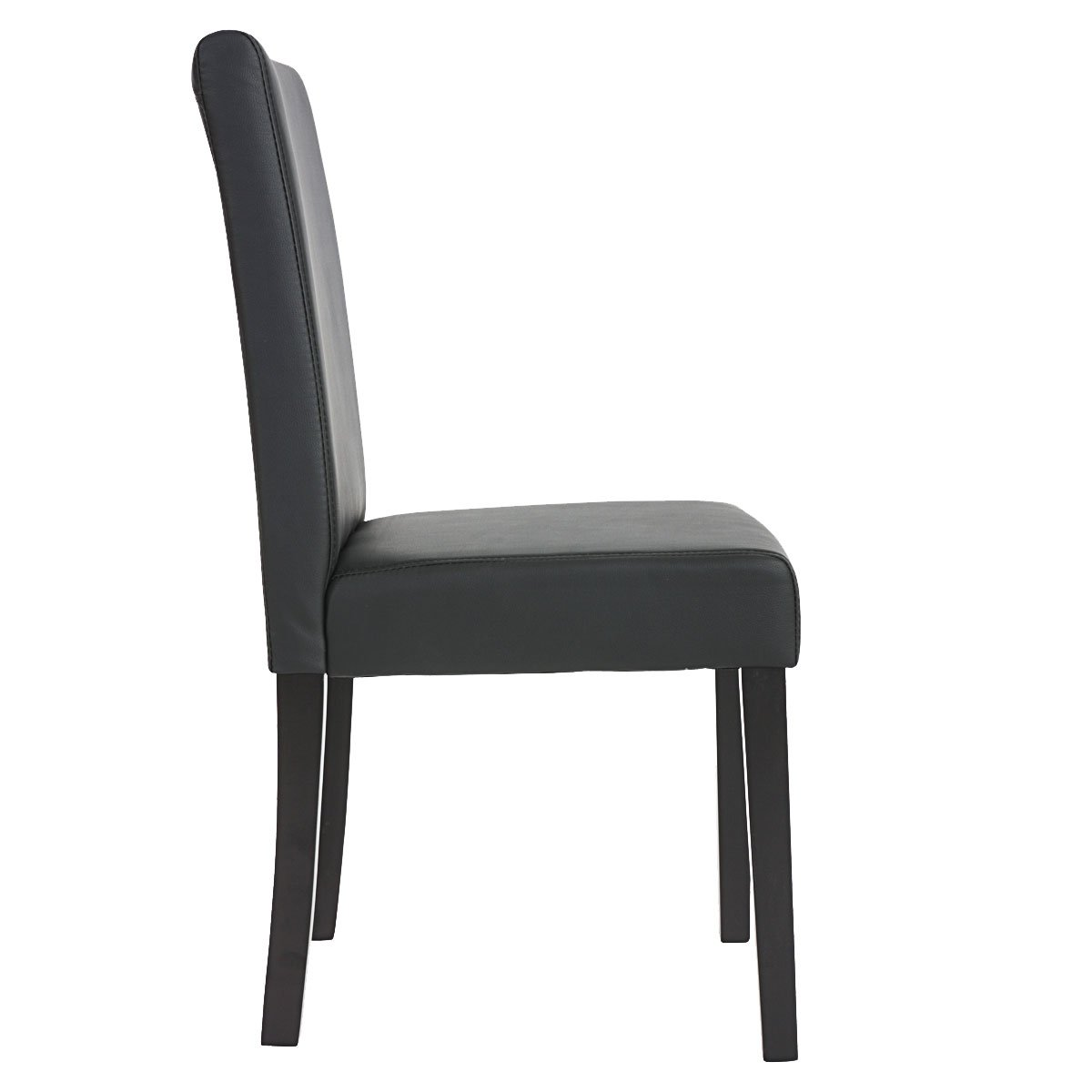 Lote 4 sillas de comedor litau piel mate negra lote 4 for Sillas negras comedor