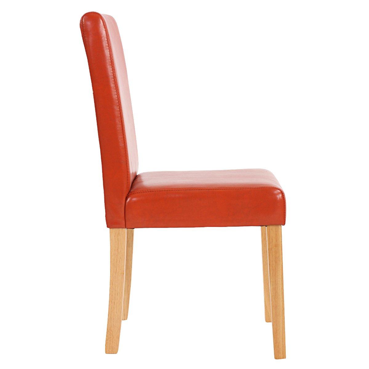 Lote 4 sillas de comedor litau en piel terracota lote 4 sillas de comedor litau en piel - Sillas comedor piel ...