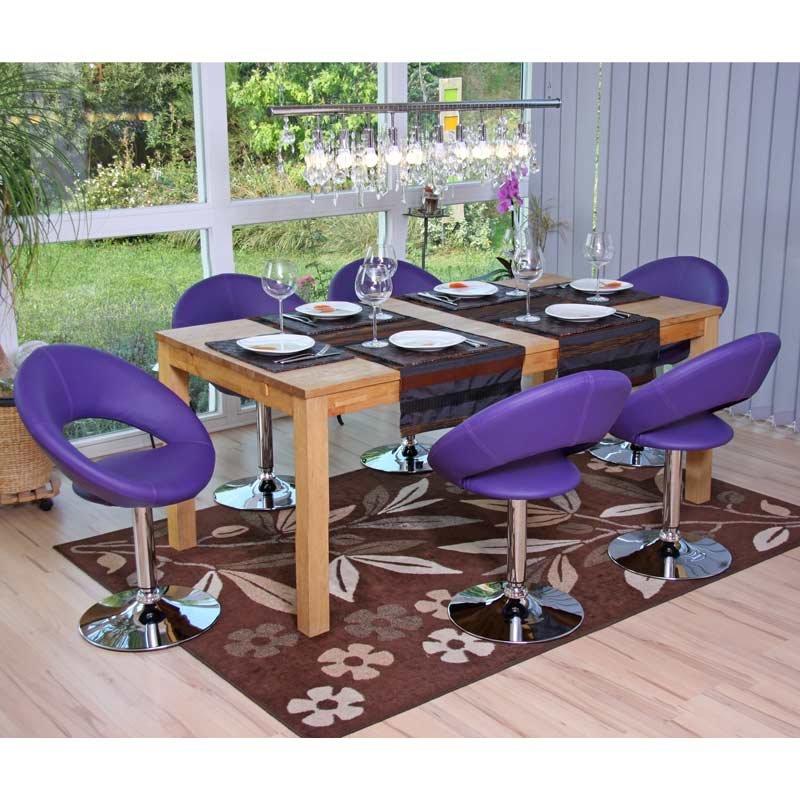 Silla de comedor palermo en polipiel morado silla de for Sillas de piel para comedor