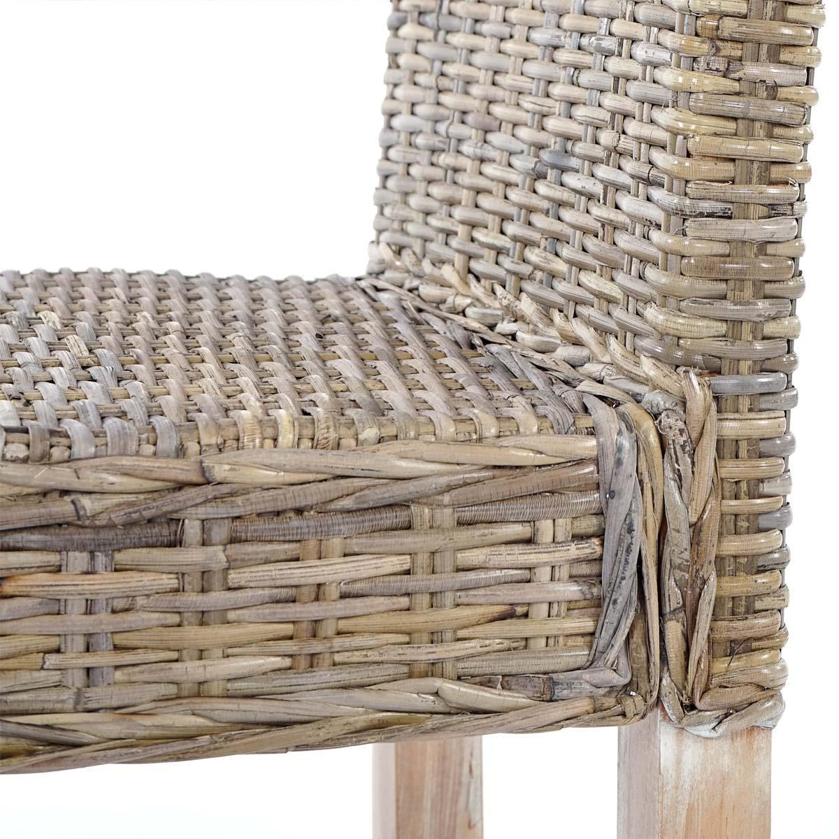 Lote de 6 sillas de comedor luca en poly rattan color for Sillas de comedor color gris