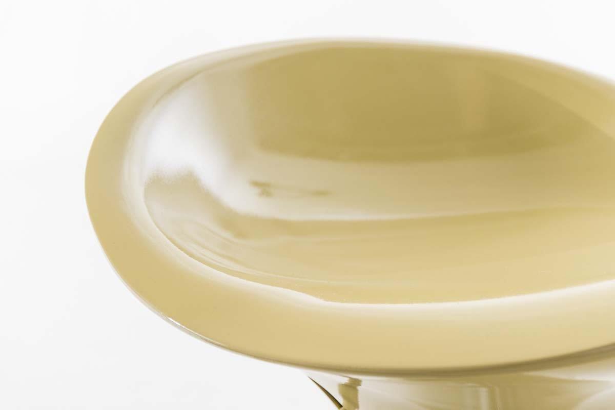 Taburete De Dise O Para Cocina Candy En Color Crema Regulable En