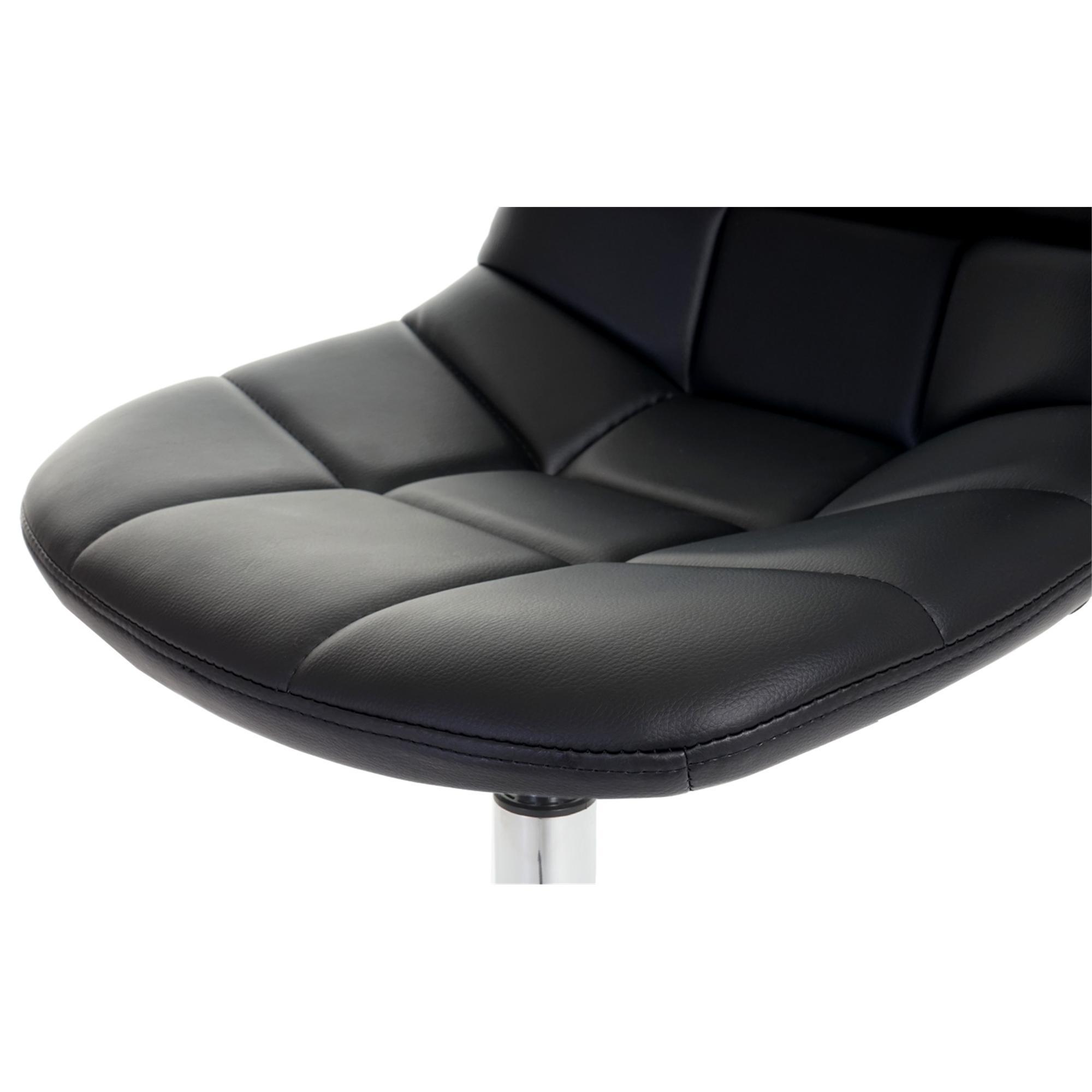 Conjunto de 6 sillas comedor tom en piel negra for Conjunto sillas comedor