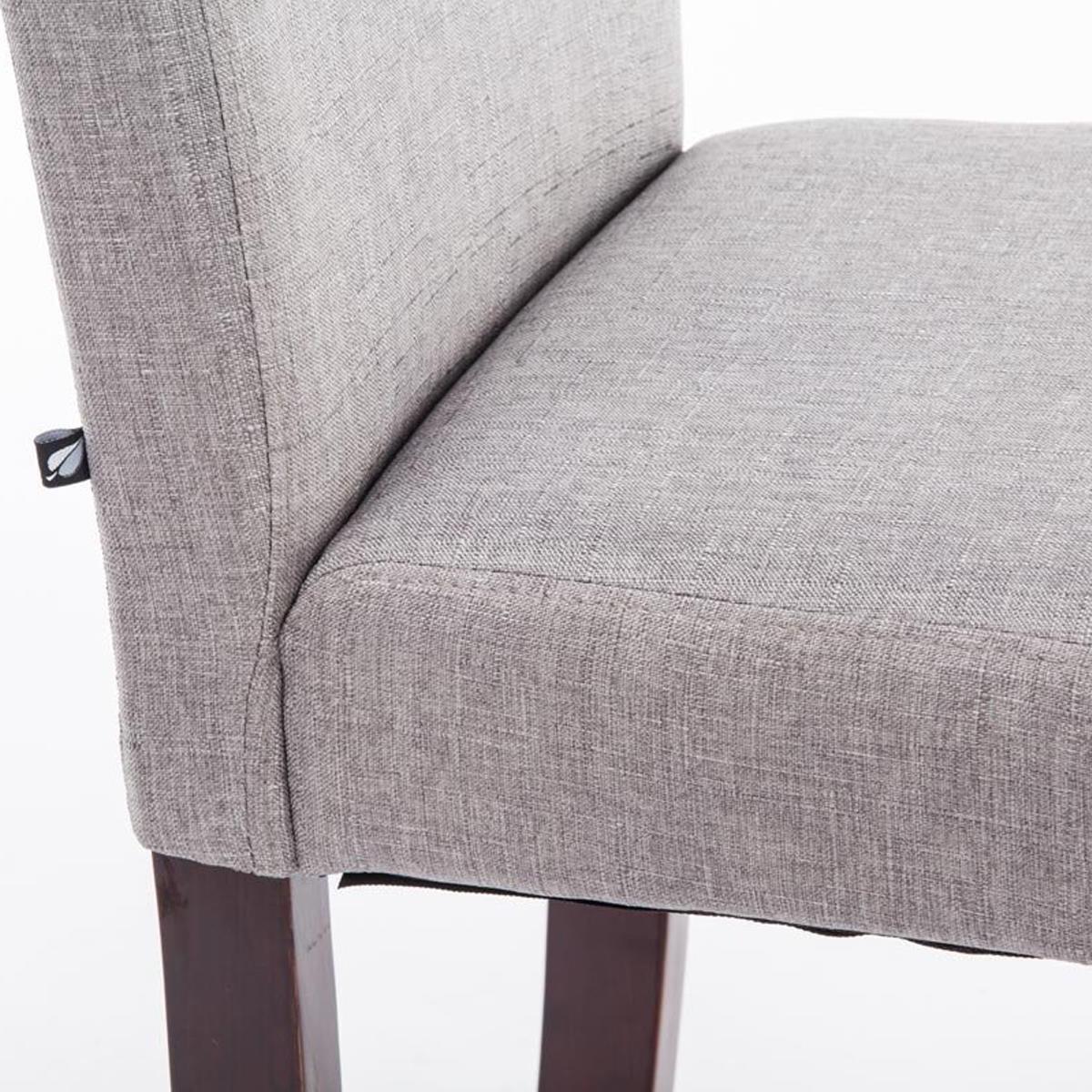 Silla de comedor adria tapizada en tela color gris claro for Sillas de comedor color gris