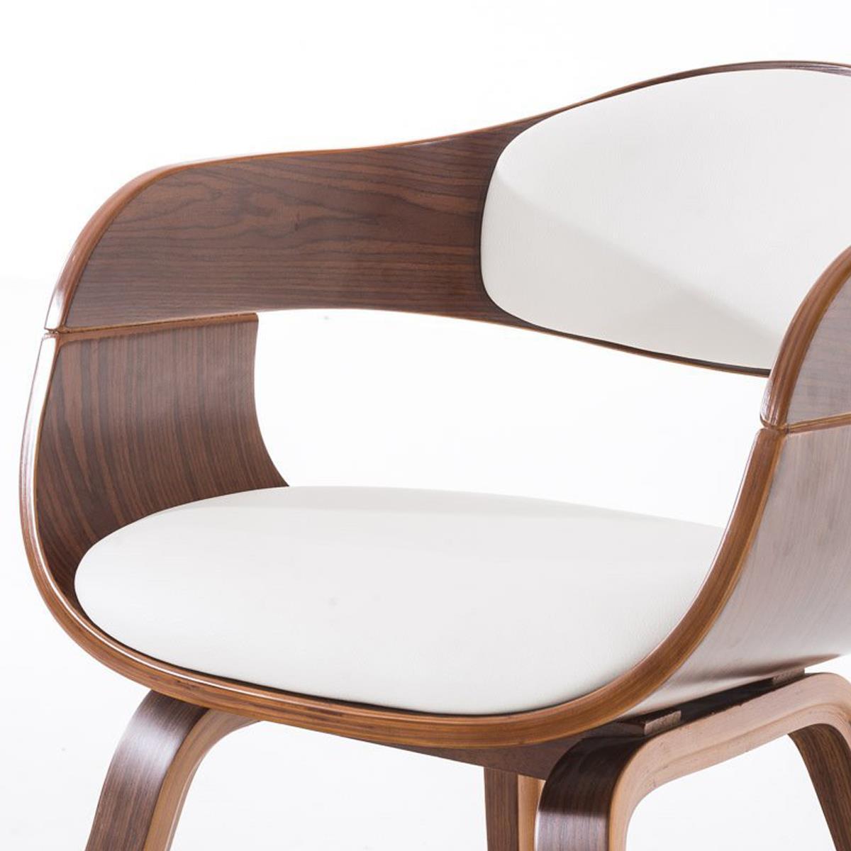 Conjunto de 4 sillas de comedor mafo tapizadas en piel for Sillas de cuero para comedor