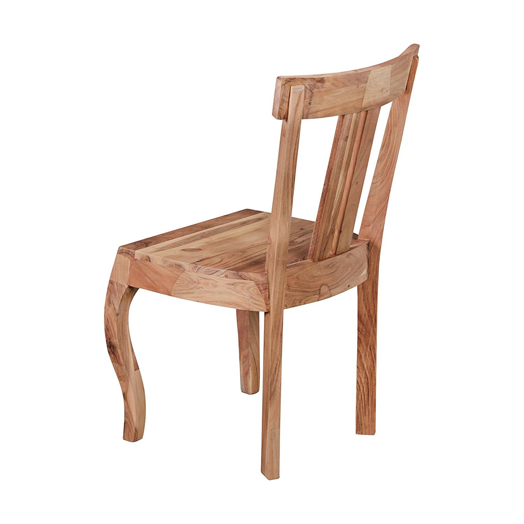 Conjunto 2 sillas de comedor ronda madera de acacia for Conjunto sillas comedor