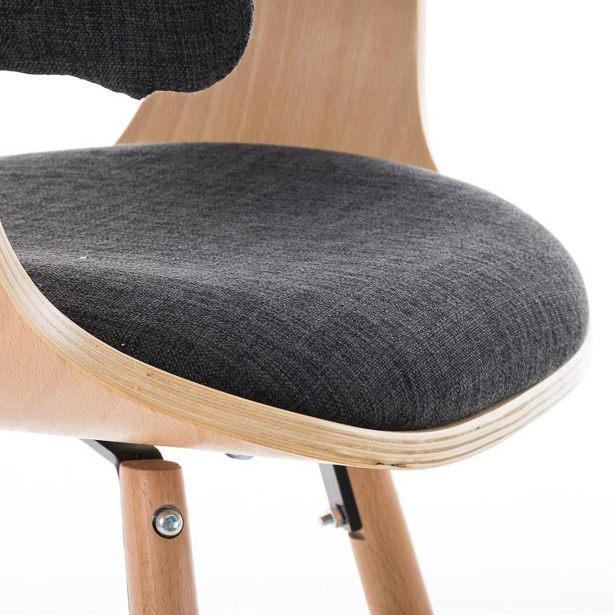Conjunto de 4 sillas de comedor albatros en tela color for Sillas de comedor color gris