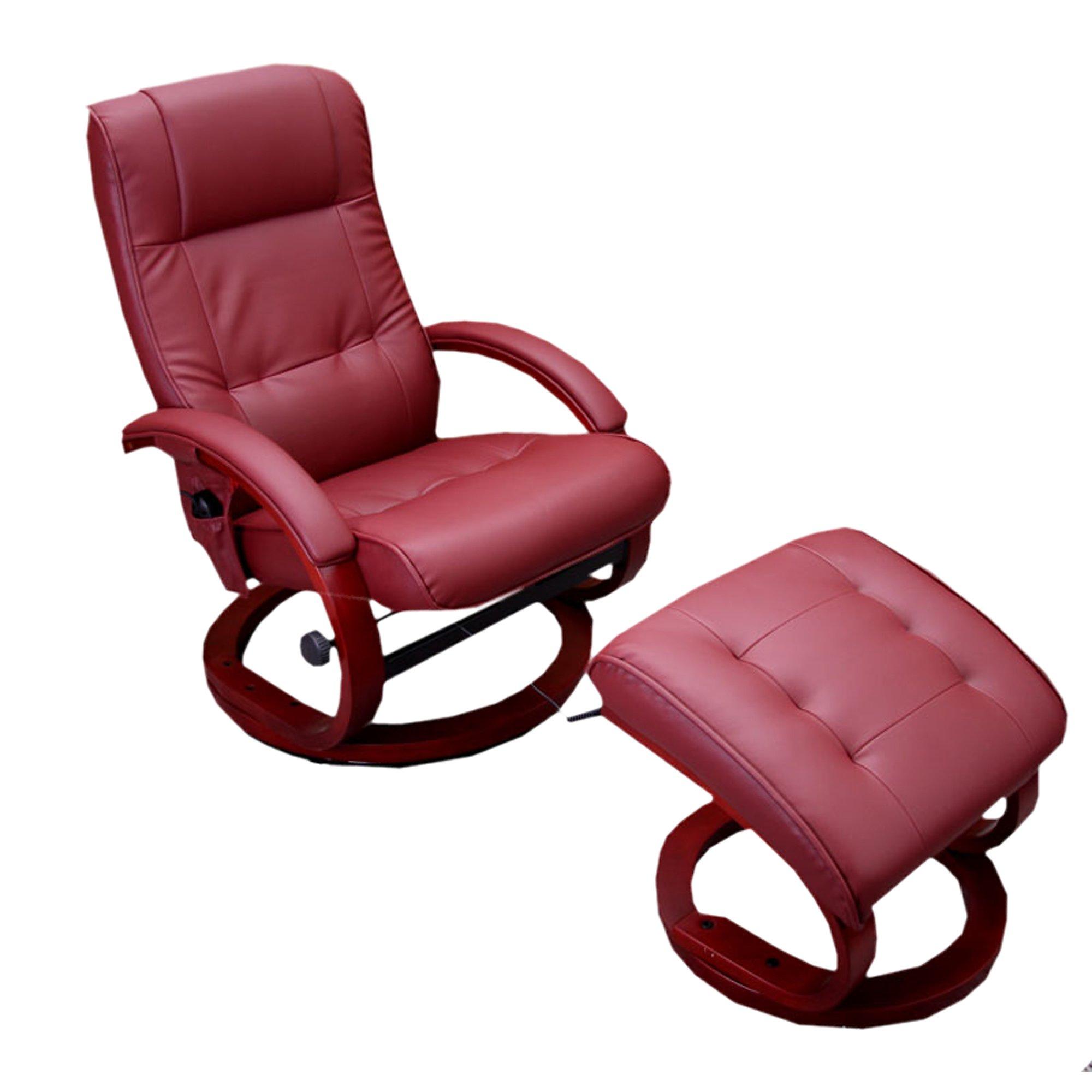 Sill n relax reclinable pescatori ii en piel rojo burdeos - Sillon reclinable piel ...
