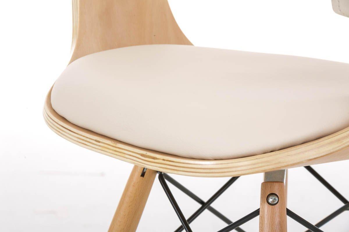 Silla barry precioso dise o moderno en madera y piel for Sillas diseno moderno