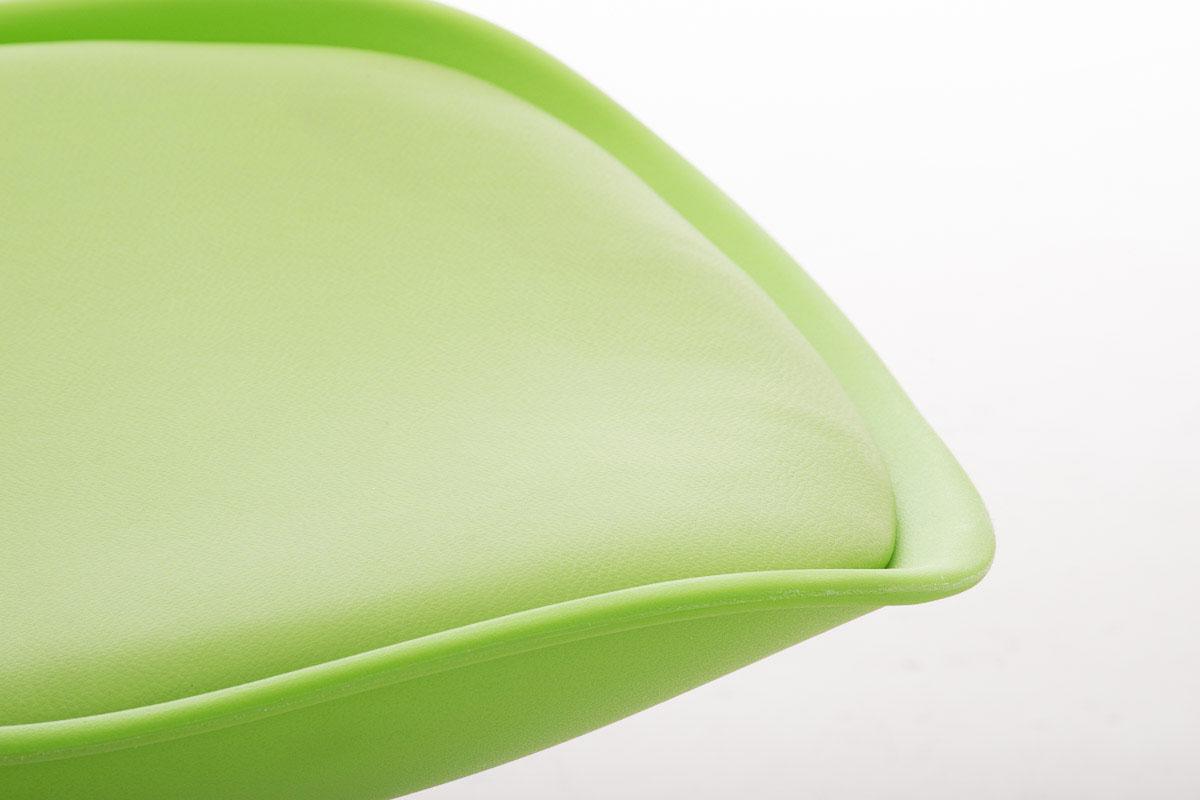 Lote 6 sillas TAYLOR, gran diseño, color verde y patas oscuras ...