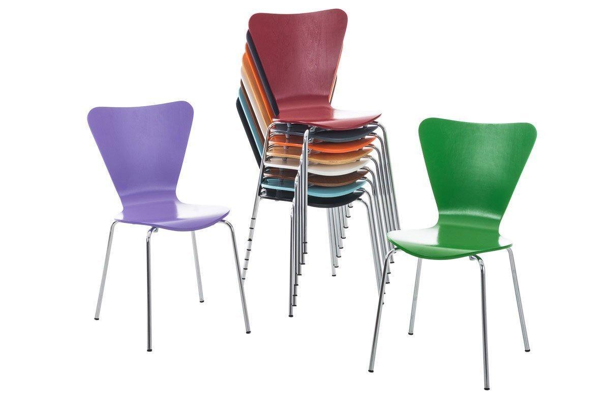 Lote 4 sillas de cocina o comedor lerma en morado - Sillas para cocina comedor ...