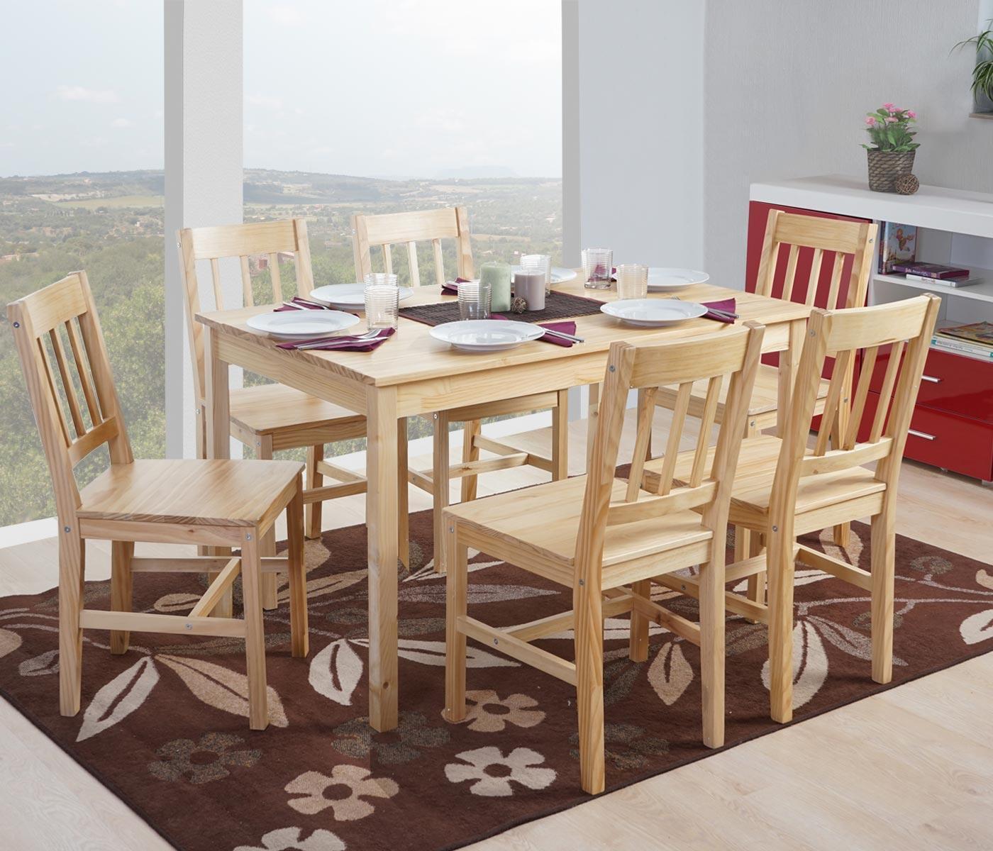 Mesas y sillas de cocina de madera cocina mueble a medida for Mesas y sillas de cocina de madera