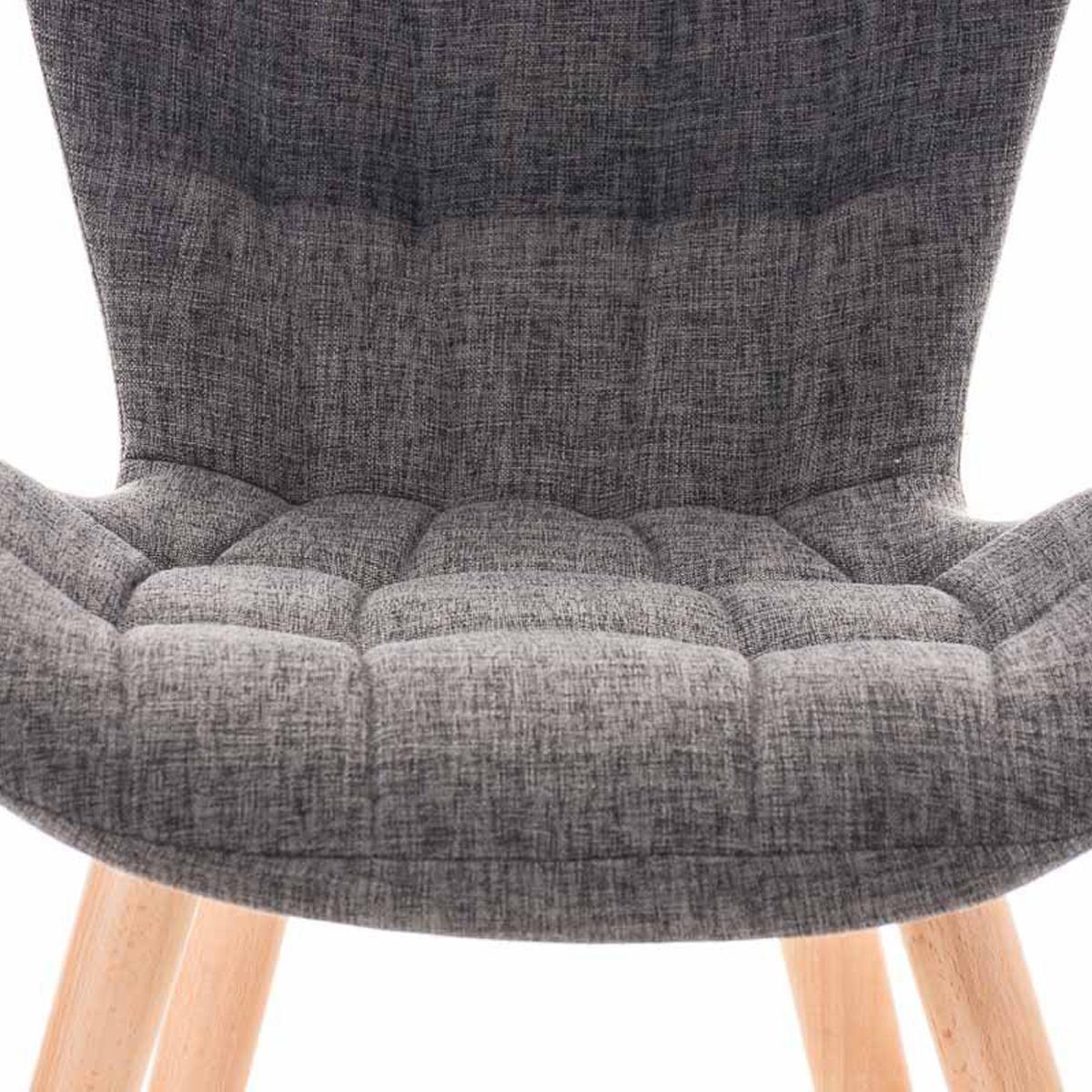 Lote de 4 sillas de comedor padua con capiton y for Sillas de comedor color gris